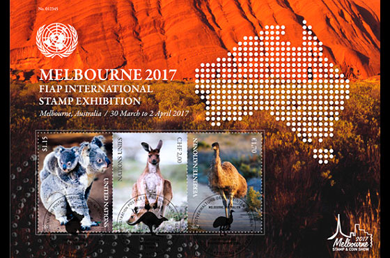 Melbourne 2017 FIAP International Stamp Exhibition- (M/S CTO) Miniature Sheet CTO