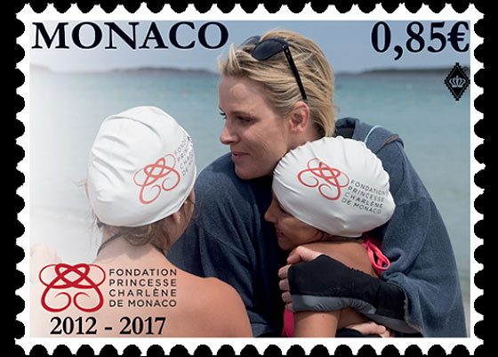 5th Anniversary of the Princess Charlene of Monaco Foundation Set CTO