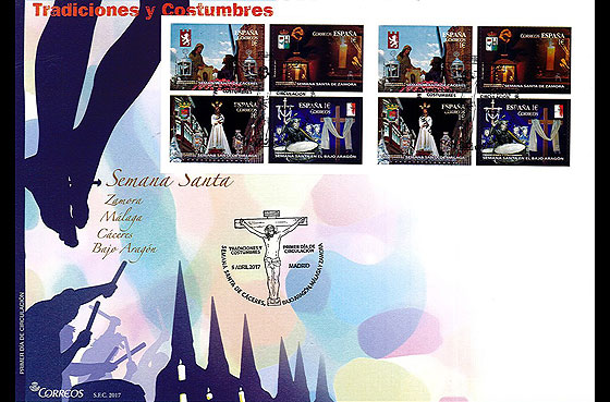 Traditions and Customs - Semana Santa First Day Cover