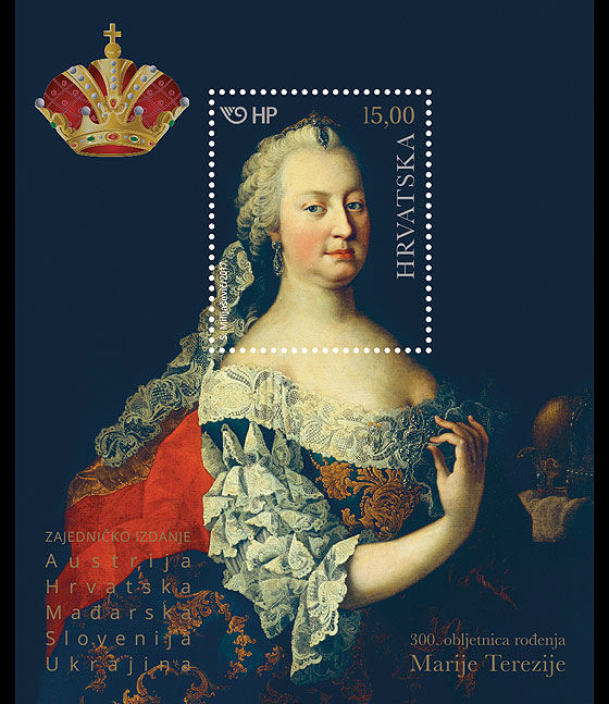 300th Ann of the Birth of Maria Theresa Miniature Sheet