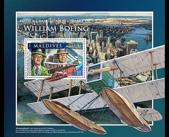 William Boeing Miniature Sheet