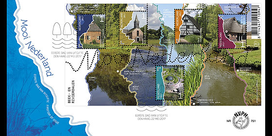 Beautiful Netherlands 2017 - Streams and River Valleys First Day Cover
