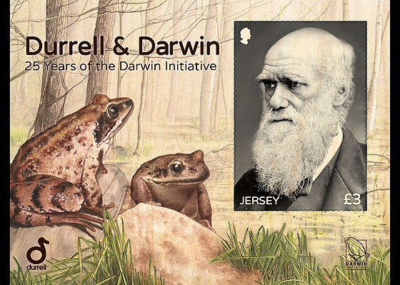 Durrell & Darwin - 25 Years of the Darwin Initiative Miniature Sheet