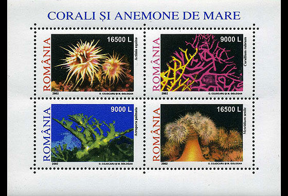 Corals and anemones 2002 Miniature Sheet
