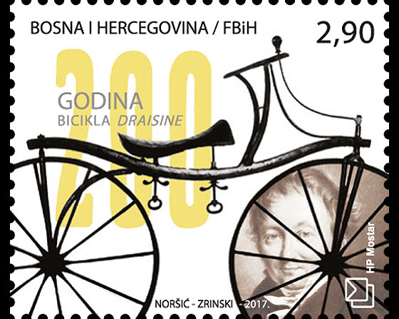 200th Anniversary of the Draisine Bicycle Set