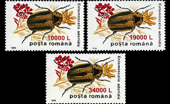 "Insects II '96, Overprint ""Mustard Flower"" Set"