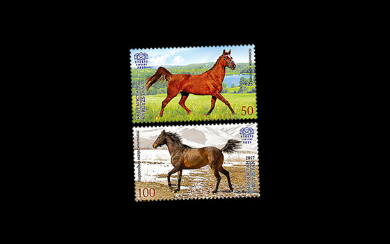 Joint issue Kyrgyzstan-Belarus - Horses SI