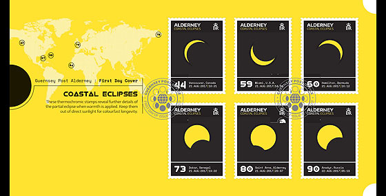 Alderney Coastal Eclipses (FDC-S) First Day Cover