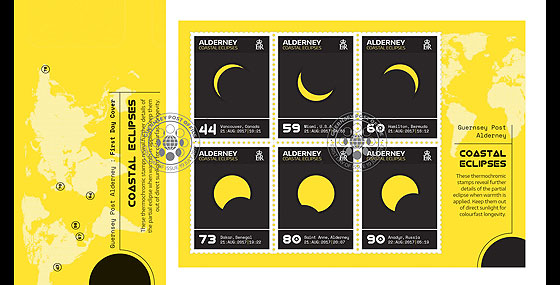 Alderney Coastal Eclipses (FDC-MS) First Day Cover