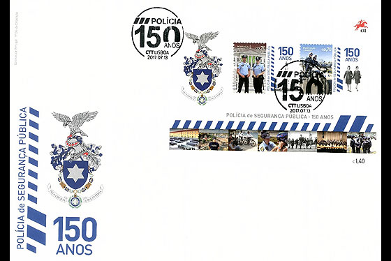 The Portuguese Public Security Police (FDC-MS) First Day Cover