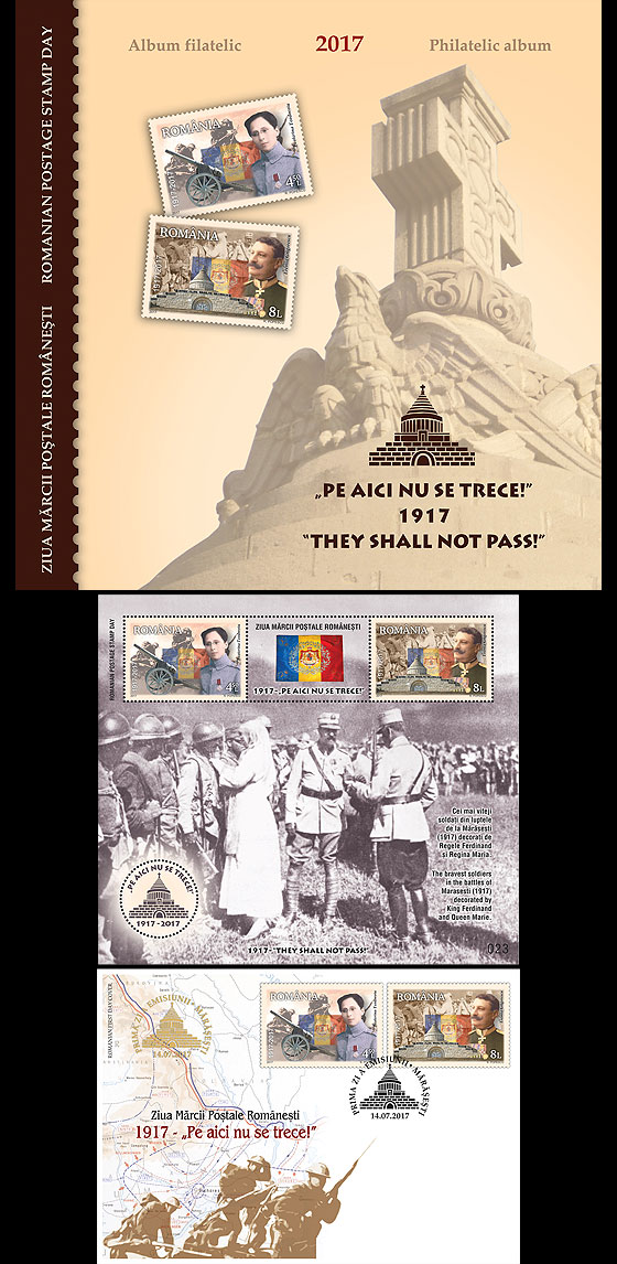 Romanian Postage Stamp Day – 1917 – They shall not pass! Special Folder