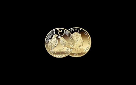 One Pound - Raven and Falcon 2017 Decimal Coin in wallet