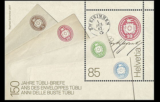 150 Years of Tübli Letters - (M/S Mint) Miniature Sheet