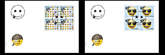 Emoji - (FDC Block of 4) First Day Cover block of 4