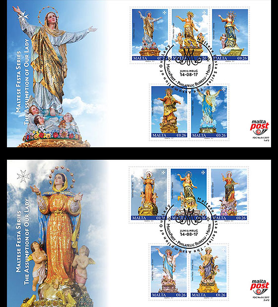 Maltese Festa Series - The Assumption Of Our Lady 2017 First Day Cover