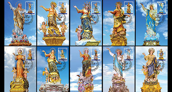 Maltese Festa Series - The Assumption Of Our Lady 2017 - (Max. Cards Card Our Lady w/s 48-57 x 10) Maxi Cards