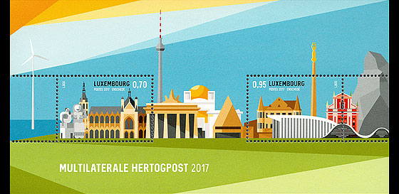 Multilaterale Hertogpost 2017 Miniature Sheet