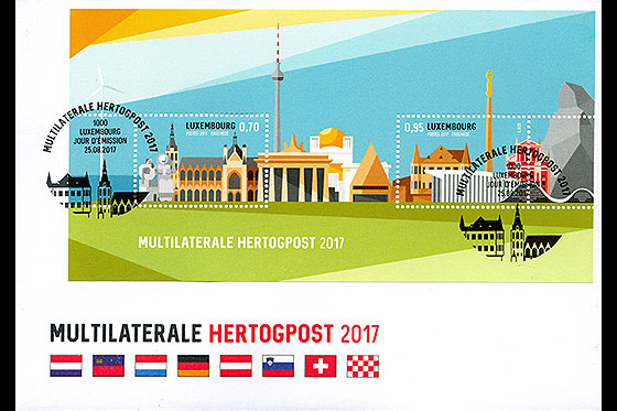 Multilaterale Hertogpost 2017 First Day Cover