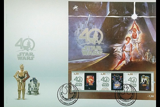 Star Wars - 40 years (FDC-MS) First Day Cover