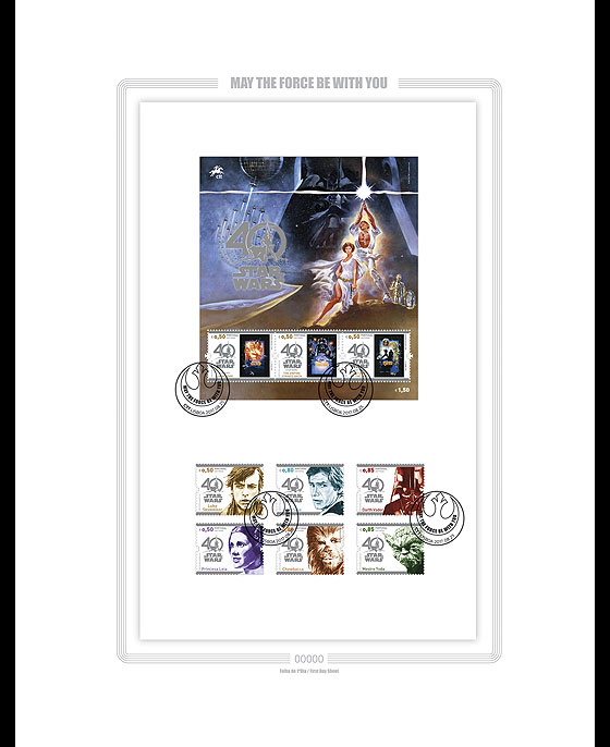 Star Wars - 40 years (First Day Sheet) Collectibles