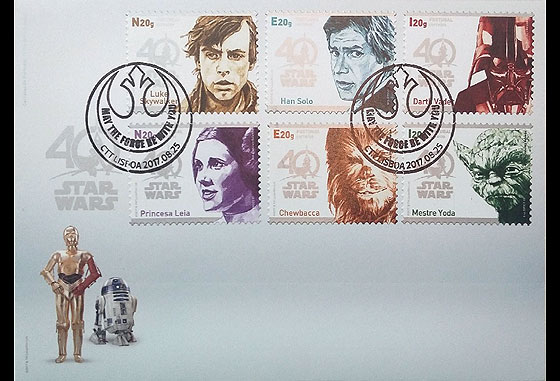 Star Wars - 40 years (Self-Adhesive) First Day Cover
