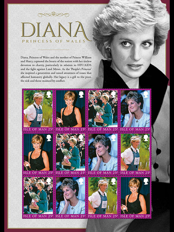 Diana, Princess of Wales, A Postal Tribute Sheetlets