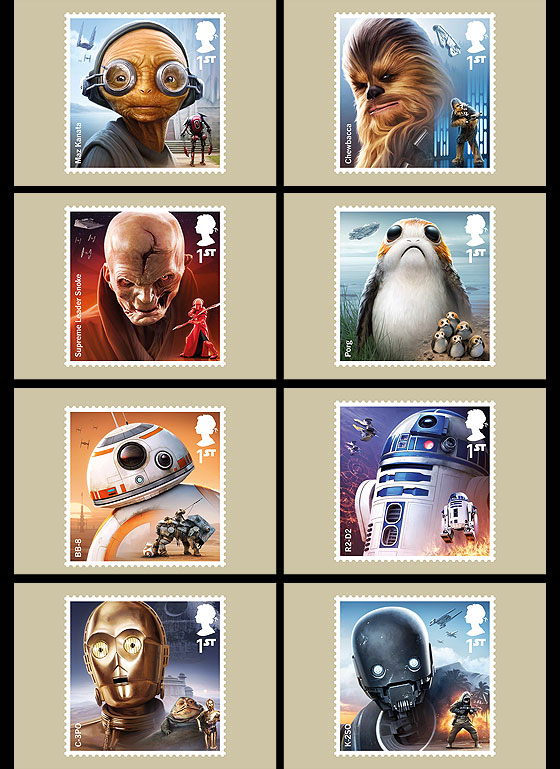 PRE ORDER Star Wars: The Last Jedi Stamp & Post Cards
