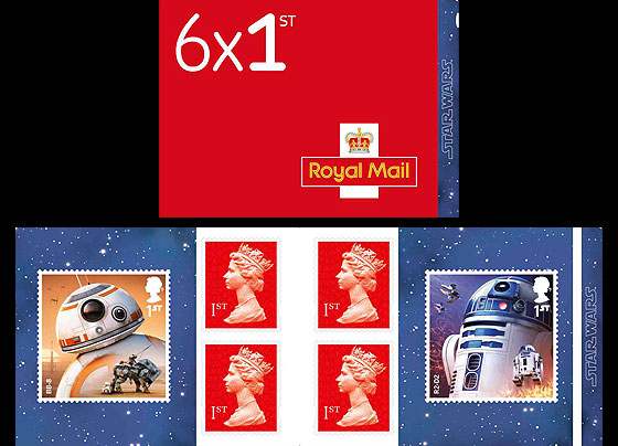 PRE ORDER Star Wars: The Last Jedi - Retail Stamp Book - Droids Stamp Booklet