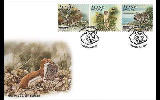 Forest Mammals First Day Cover