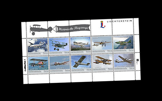Historical Aeroplanes - 8th Official Collection Sheet SI