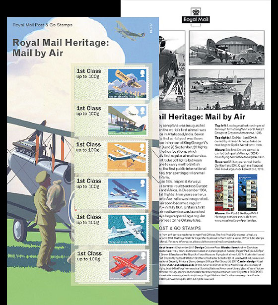 Post & Go - Royal Mail Heritage: Mail by Air Set