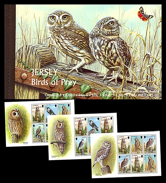 BOOKLET Birds of Prey Stamp Booklet