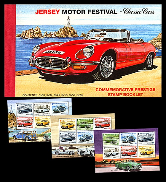 BOOKLET Classic Cars Stamp Booklet