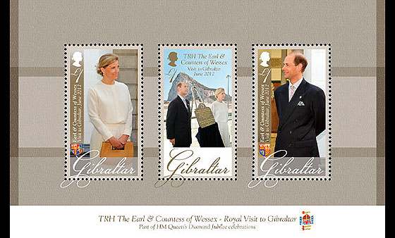 Royal Visit of TRH The Earl & Countes Miniature Sheet