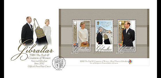 Royal Visit of TRH The Earl & Countes First Day Cover