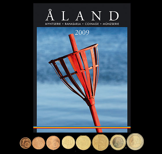 Finland 2009 coins (by Aland) Coin Year Set