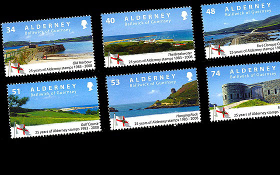 25 Years Of Alderney Stamps SI