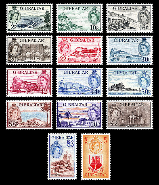 60 Years 1st Stamp Definitive Of QE II 1953 Set
