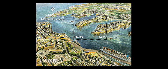 Malta-Curacao Joint Stamp Issue Miniature Sheet