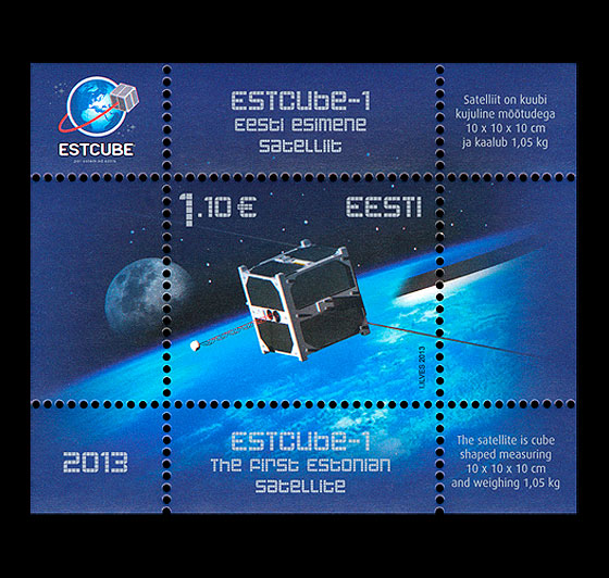First Estonian Satellite Miniature Sheet