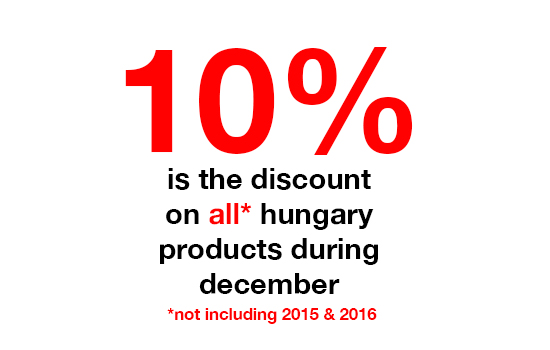 hungary - 10% off all products