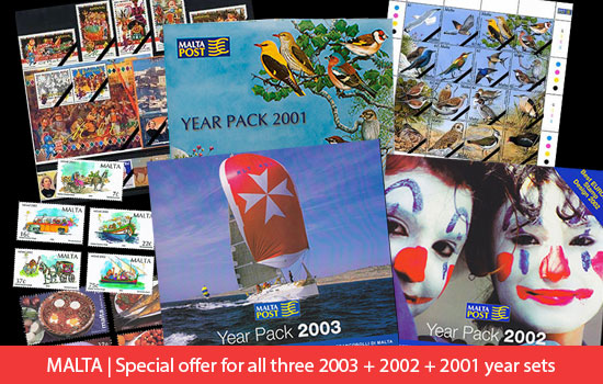 Special Summer Year Pack Offer (2001, 2002 & 2003)