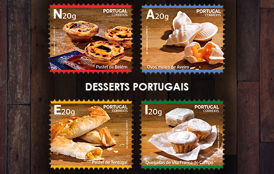 Desserts traditionnels du Portugal - auto-adhésives